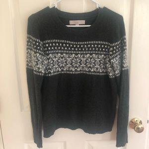 Anne Taylor Loft  grey, cozy winter sweater